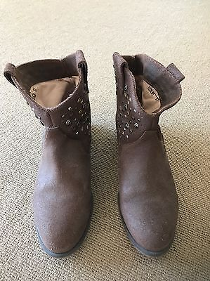 SENSO Diffusion Women's Ankle Brown Studded Boots Sz 37