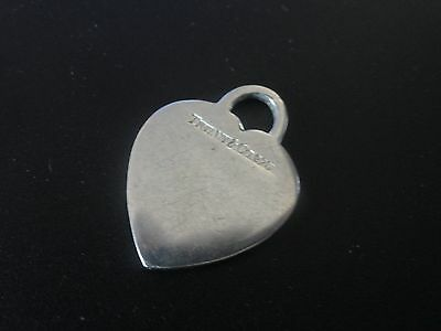 Tiffany @ Co Sterling Silver Heart Charm Pendant