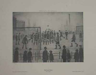 L.s.lowry The Football Match,limited Edition Print