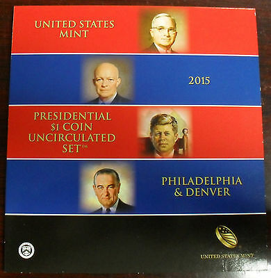 2015 US Mint Presidential $1 Coin Uncirculated Set 8 Coin Set