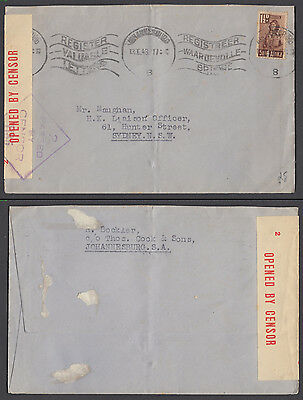 South Africa 1943 Cover Stamped Censor To Australia