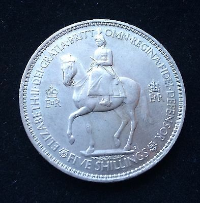 1953 Queen Elizabeth II Coronation Five Shilling Coin * UNC * Fast Delivery *