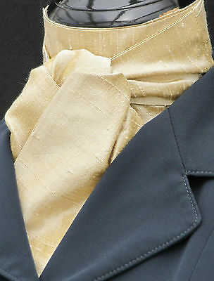 Riding Stock - Self Tie Cream 100% Top Quality Pure Silk Dressage Hunting Show