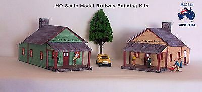 HO Scale Country Houses with Veranda Model Railway Building Kit x 2 - RECH2