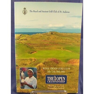 The Open Golf Championship Official Programme Royal Troon 1997