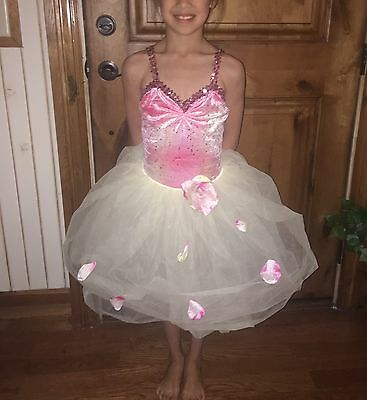 2 Lot Sequin Dance Ballet Leotard Tutu Skirt Costume Girls 8-10