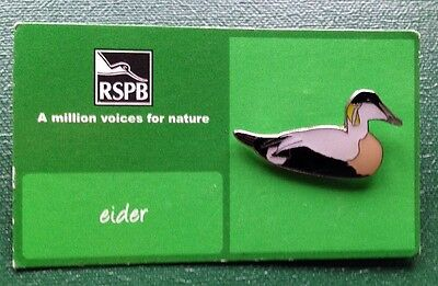 RSPB-A Million Voices For Nature EIDER Pin Badge.