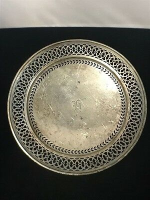 Antique Tiffany & Company Silver 7.5in Plate, Natural Toning