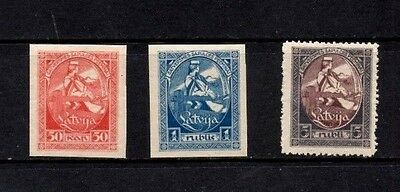 Latvia 1920 1st Constituent Assembly  SG.60/61+63  Mint (Hinged)