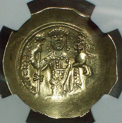 NGC Ancient MS 4/5 Year 1078-81 AD GOLD Byzantine Nicephorus III Nomisma CHRIST