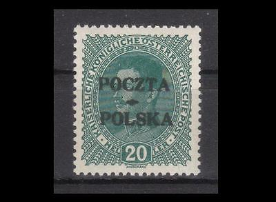 POLAND 1919 Cracow stamp fi.36** mint never hinged