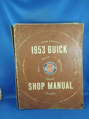 Buick Shop Manual 1953 Car Truck Repair Maintenance General Motors