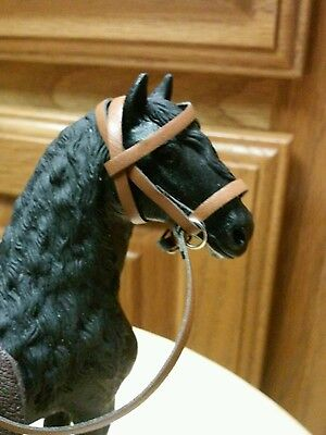 Schleich breyer Collecta three custom English  bridles