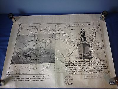 Isaac Davis Daughters of the American Revolution 1975 Line of March Print