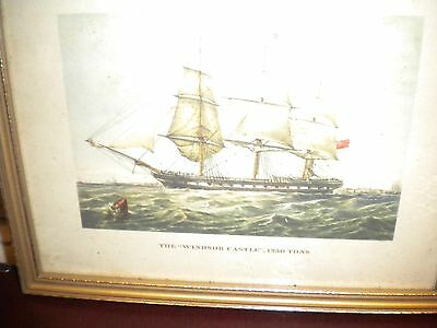 Four prints of 1800s Sailing Ships.