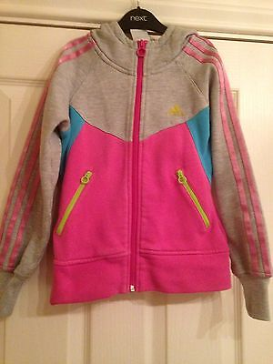 Adidas Girls Tracksuit Top Age 7-8 Years
