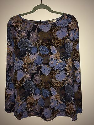 H&M MAMA Long Sleeve Floral Top size M 12-14