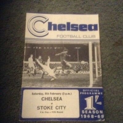 FA Cup 5th Rd Chelsea v Stoke 8-2-69