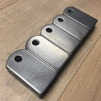 "Weld On Steel Flat Tab Brackets 1 1/2"" x 2 3/4"" x 1/8"" Lot of 25 Brackets"