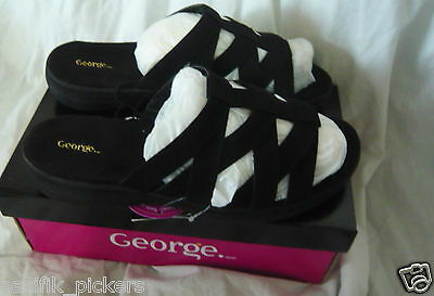 Brand New In Box  George leather  Sandal  slipper  Men Size 11 wide