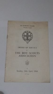 Scout St Georges Day Order of Service Windsor Castle 1964