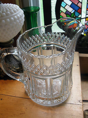 Vintage Depression Glass Pitcher Excellent Condition