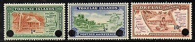Tokelau Islands 1967 Decimal Currency Surcharge Issue SG.9/11 Mint (MNH) Set