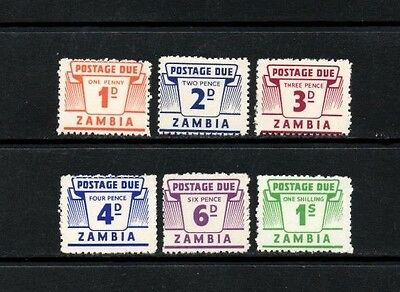 Zambia 1964 Postage Due Issue Complete Set of 6  SG.D11/D16  Mint (Hinged)