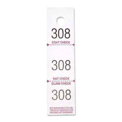 Sparco Coat Check Tickets 3-Part 500/PK White 99300