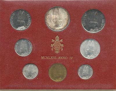 Vatican Official Set 8 Pcs 1966 With Silver