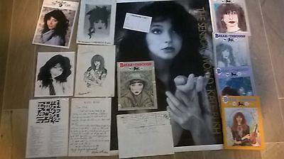 Kate Bush Lot of Fan Magazines Some Rare + Press Pic-Poster - MUST LOOK IF FAN!!