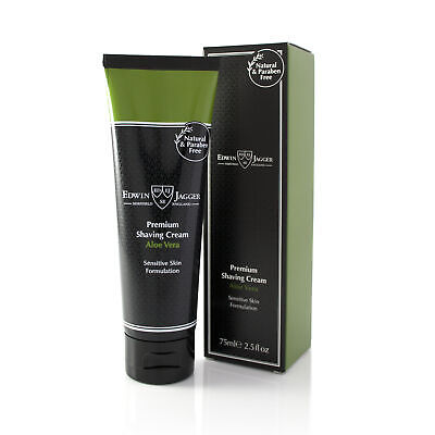 Edwin Jagger Premium Shaving Cream, Aloe Vera, 75 ml Tube