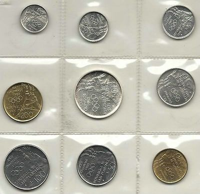San Marino Official Set 9 Pcs 1980 With Silver