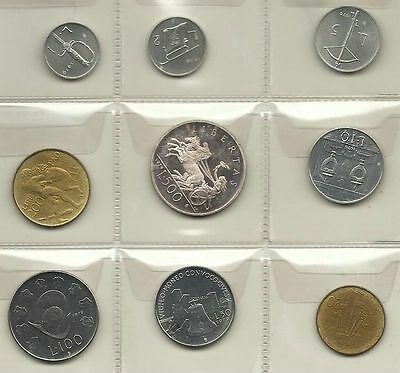 San Marino Official Set 9 Pcs 1979 With Silver