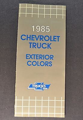 1985 Chevrolet Truck Paint Chip Colors Brochure Pickup Blazer Suburban El Camino
