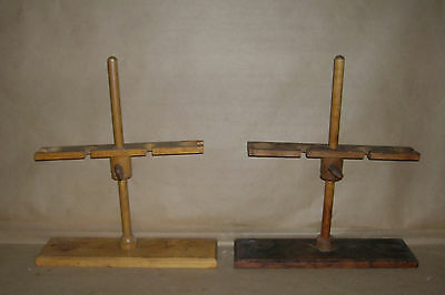 Lab Tools - Stands #1 - Wooden Funnel Supports Vinage