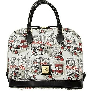 New Dooney & Bourke Downtown Mickey And Minnie Satchel Disney Sold Out Castle
