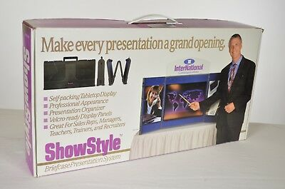 Showstyle Briefcase Presentation Self-Packing Display