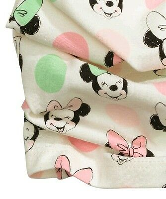 H&m Minnie Mouse Jersey Tube Eternity Scarf Pink Multi. New