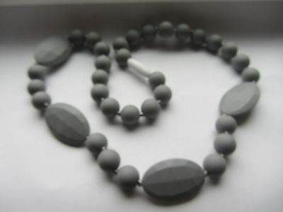 Silicone Teething Necklace,  Gray Color, for mommy/ Baby nursing chew