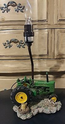 John Deere Table Lamp Tractor- Very Nice- Needs Shade- In Great Condition!