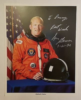 Charles D. 'sam' Gemar Sts-38, 48 Nasa Astronaut Signed Autographed 8X10 Photo