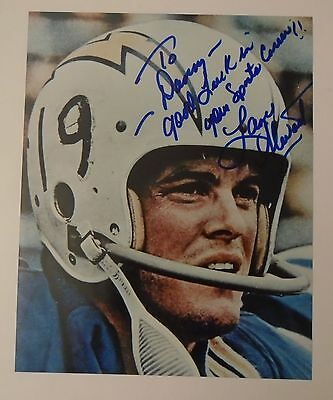 Lance Alworth San Diego Chargers Signed Autographed 8X10 Color Photo
