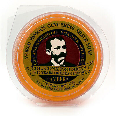 Col. Conk Amber Glycerin Shave Soap, Large