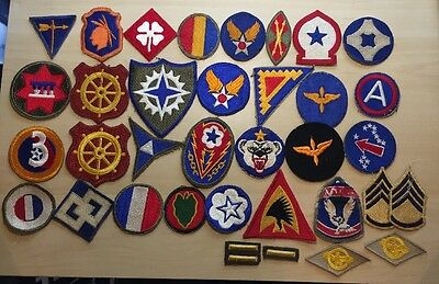 Lot Of 34 Mostly WWII Era Patches, Air Corps, Army