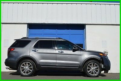 2014 Ford Explorer XLT 4WD 4X4 Heated Leather Nav Rear Cam Sync More+ Repairable Rebuildable Salvage Runs Great Project Builder Fixer Easy Fix Save