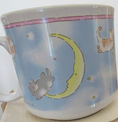 Baby Toddler Cup Mug Nib Bunny Kitty Cats Jumping Over Moon Michel & Co