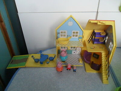Peppa Pig Deluxe House Playset with Figures & Furniture - VGC!!