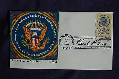 Presidential Libraries 37c Stamp FDC Curtis BP Cachet Sc#3930 CU470 Gerald Ford