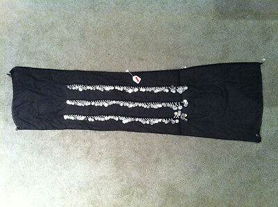 EGYPTIAN MADE BELLY DANCE HIP COIN WRAP SCARF SKIRT BELT - Black w/ Silver Coins